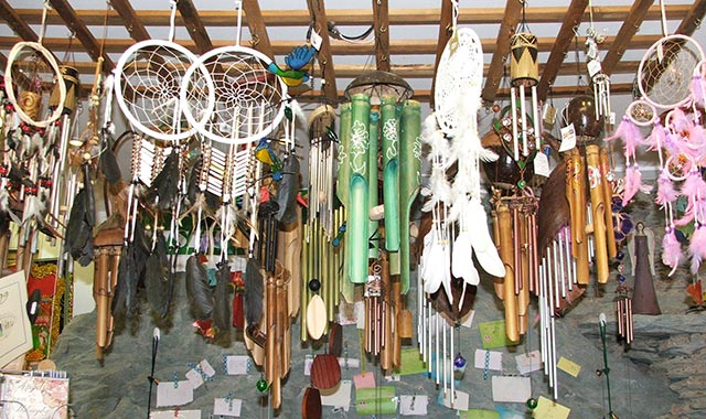 Gift Shop Wind Chimes Dream Catchers