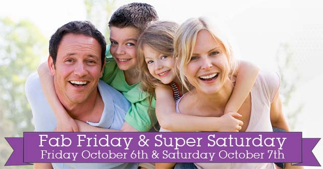 October's Fab Friday & Super Saturday at Evolv