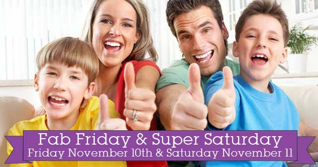 November's Fab Friday & Super Saturday at Evolv