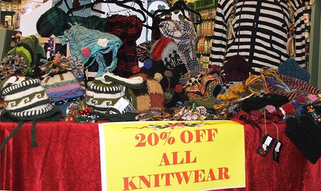 Gift Shop Knitwear Offer