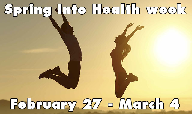 Get set for 'Spring Into Health' week