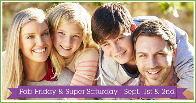 September's Fab Friday & Super Saturday at Evolv