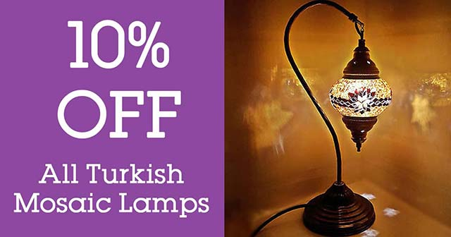 turkish lamps 10 off