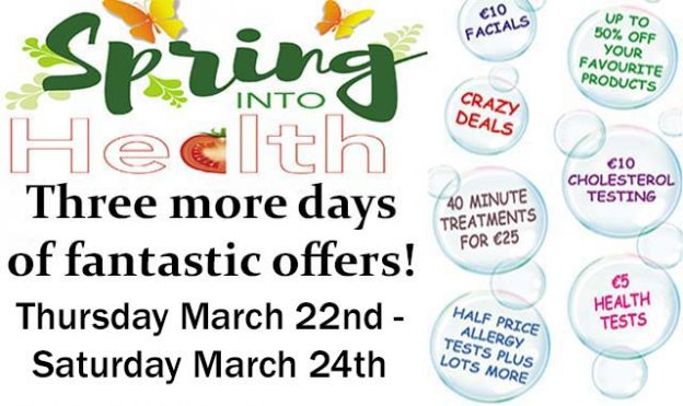 Three more days of great 'Spring Into Health' offers